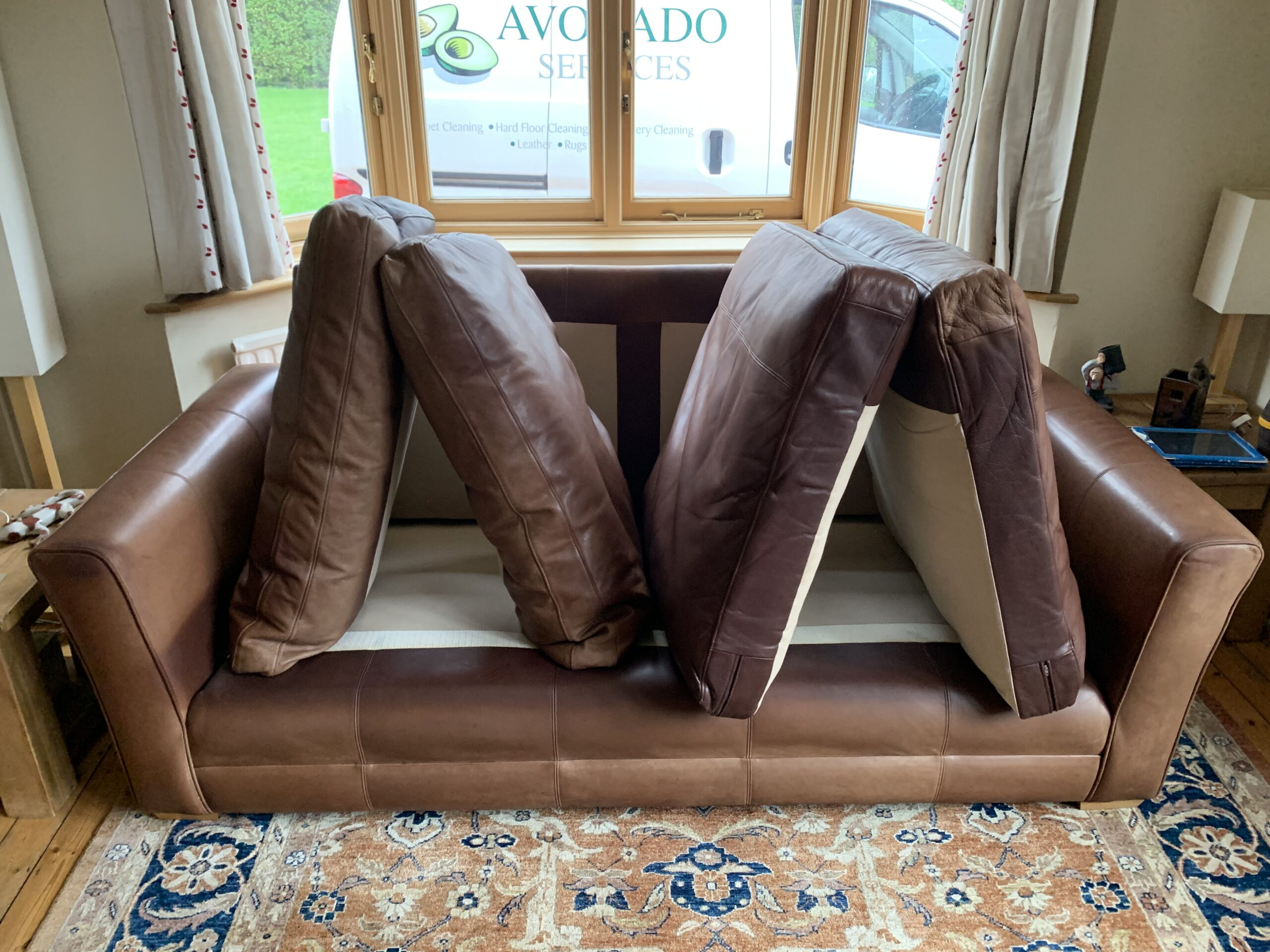 Brown Three Seater Leather
